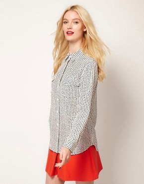 Image 1 ofEquipment Slim Signature Shirt in Star Print Silk