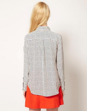 Image 2 ofEquipment Slim Signature Shirt in Star Print Silk