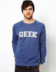 ASOS Geek Printed Sweatshirt With Raglan Sleeves