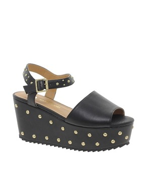 Image 1 ofRiver Island Studded Flatform Sandals