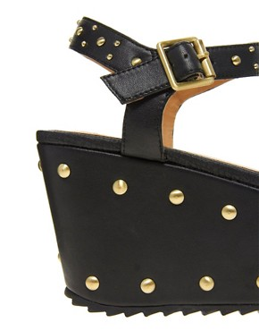 Image 2 ofRiver Island Studded Flatform Sandals
