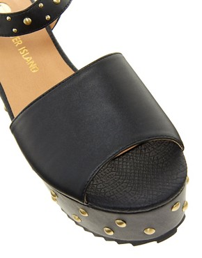 Image 4 ofRiver Island Studded Flatform Sandals