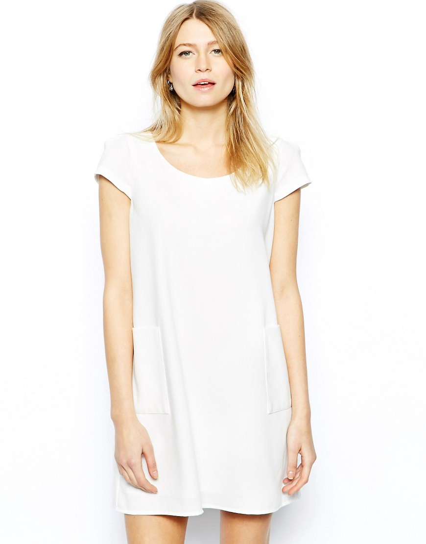 Love A Line Shift Dress with Pockets - Cream
