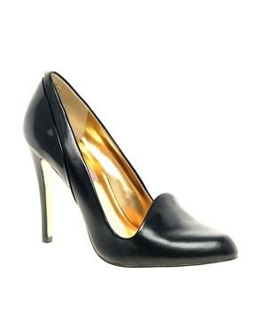 Image 1 ofTed Baker Kelmat Black Court Shoes