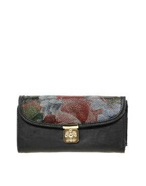 Image 1 ofMax C Two Tone Floral Clutch