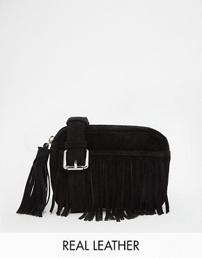 ASOS Suede Fringed Bum Bag