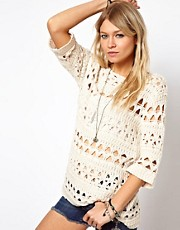 ASOS Crochet Slouch Jumper