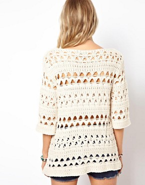 Image 2 ofASOS Crochet Slouch Jumper