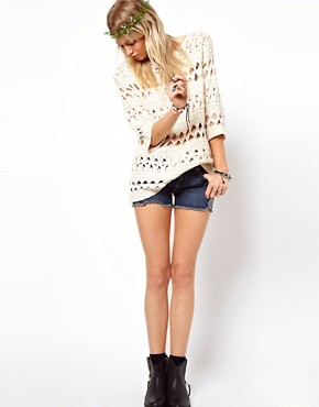 Image 4 ofASOS Crochet Slouch Jumper