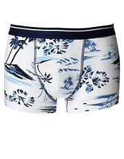 ASOS Trunks With Hawaiian Print