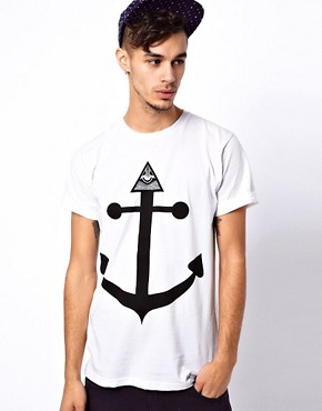 Image 1 ofAbandon Ship T-Shirt with Seeing Eye Print