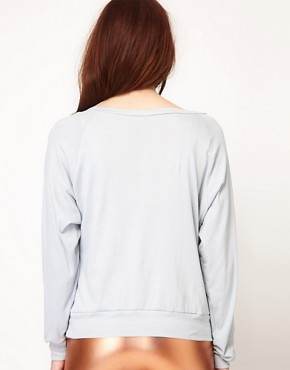 Image 2 ofAmerican Apparel Sheer Rib Raglan Pullover