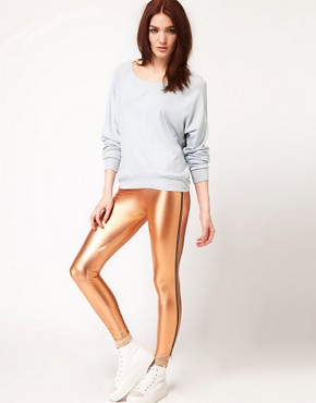 Image 4 ofAmerican Apparel Sheer Rib Raglan Pullover