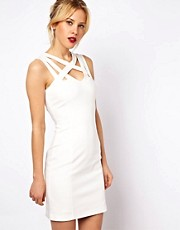 Mango Miranda Bodycon Dress With Multi Strap Neckline