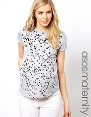 ASOS Maternity Exclusive T-Shirt with Swallow Print