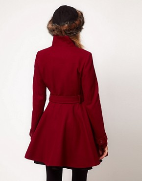 Image 2 ofASOS Skater Belted Coat