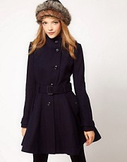ASOS Skater Belted Coat