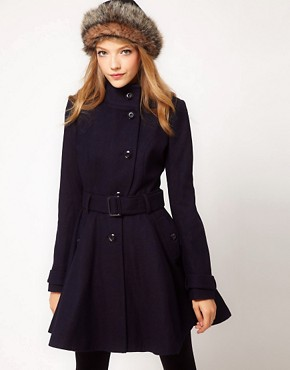 Image 1 ofASOS Skater Belted Coat