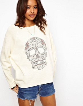 Image 1 ofASOS Studded Skull Jumper