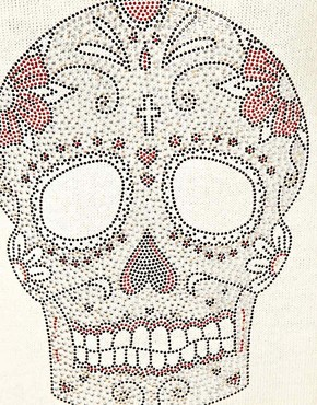 Image 3 ofASOS Studded Skull Jumper