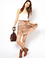 River Island Washed Out Aztec Skirt