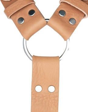 Image 2 ofASOS Leather Buckle Detail Harness