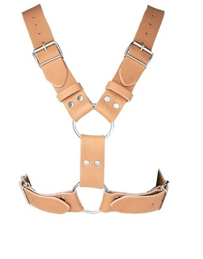 Image 3 ofASOS Leather Buckle Detail Harness