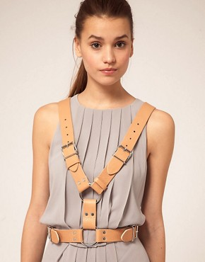 Image 1 ofASOS Leather Buckle Detail Harness