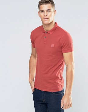 Boss Orange Pascha Slim Logo Polo Washed Pique