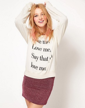 Image 1 of Wildfox Love Me Sweat