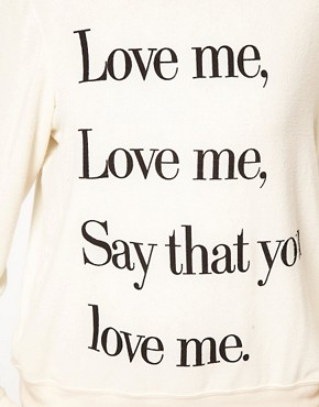 Image 3 of Wildfox Love Me Sweat