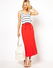 ASOS Pencil Skirt With Sports Tie Detail