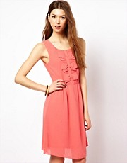 Max C Midi Dress With Pleat &amp; Bow Detail