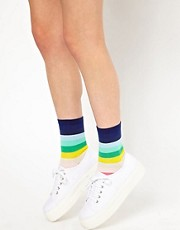 Pieces Electric Stripe Sock