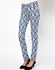 Vero Moda Aztec Print Skinny Jean