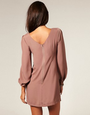 Image 2 ofASOS Shift Dress with Bell Sleeve