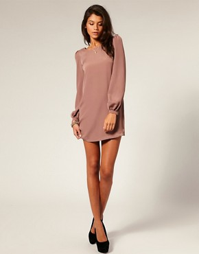 Image 4 ofASOS Shift Dress with Bell Sleeve