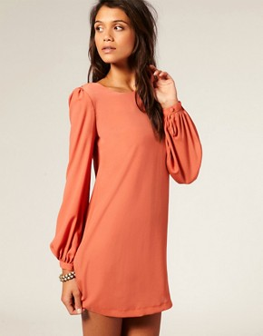 Image 1 ofASOS Shift Dress with Bell Sleeve