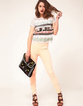 Image 4 ofASOS T-Shirt with Large Sequin