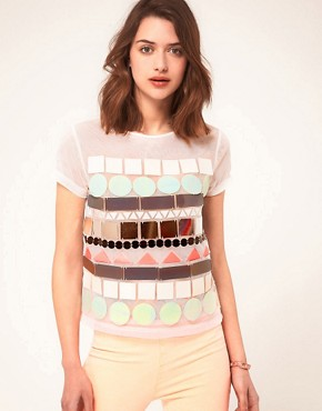 Image 1 ofASOS T-Shirt with Large Sequin