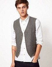 ASOS Slim Fit Vest 100% Wool
