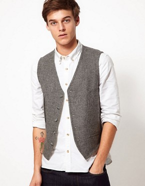 ASOS Slim Fit Waistcoat 100% Wool