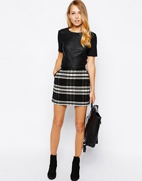 Image 1 of Oasis Check Skirt