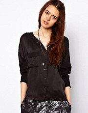Just Female Mixed Fabric Shirt