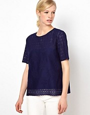 Whistles Petal Broderie Cotton Top