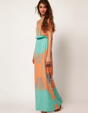 Bild 1 von River Island  Bedrucktes Maxikleid