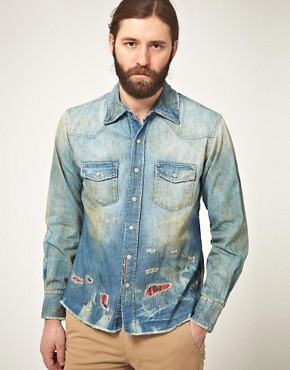 Image 1 ofPRPS Goods &amp; Co Chambray Shirt