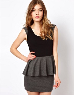 Image 1 ofd.RA Jersey Peplum Dress