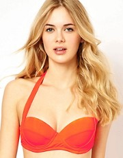 ASOS Mix and Match 50s Halter Padded Bikini Top