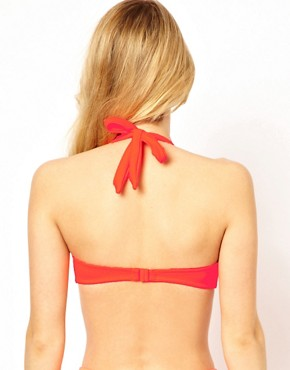 Image 2 ofASOS Mix and Match 50s Halter Padded Bikini Top